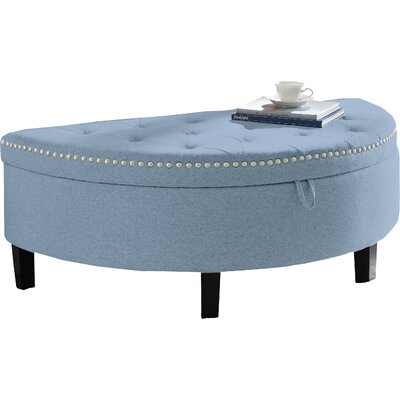 Jacqueline Upholstered Storage Bench Upholstery: Blue