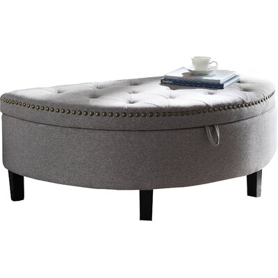 Jacqueline Upholstered Storage Bench Upholstery: Gray