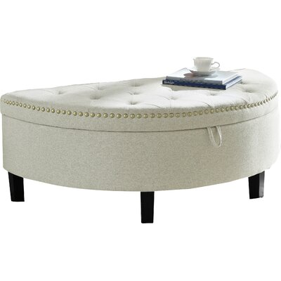 Jacqueline Upholstered Storage Bench Upholstery: Cream White
