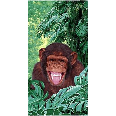 Chimpanzee Endangered Velour 100% Cotton Beach Towel