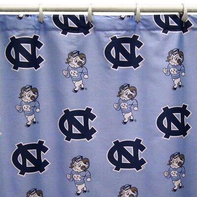 NCAA North Carolina Cotton Printed Shower Curtain
