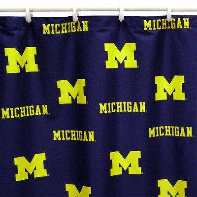 NCAA Michigan Cotton Printed Shower Curtain