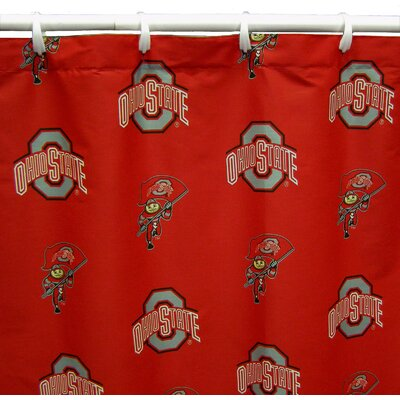 NCAA Ohio State Cotton Printed Shower Curtain