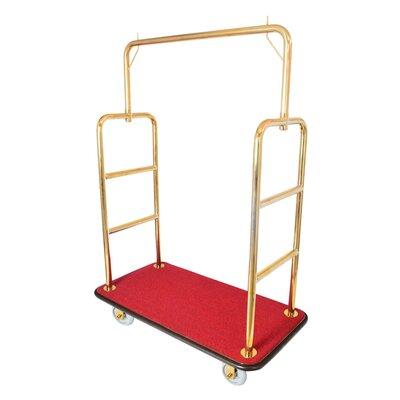 Value Valet Bellman's Cart Platform Dolly Finish: Golden Brass
