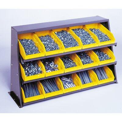 "Bench Pick Rack Storage Systems Bin Dimensions: 4"" H x 11 1/8"" W x 11 5/8"" D (qty. 9), Bin Color: Blue"