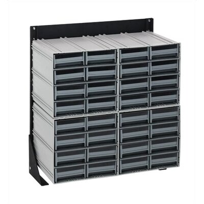 """11"""" H x 11.75"""" W x 11.38"""" D Single Sided Interlocking Storage Rack Number of Drawers: 96 Drawers, Finish: Red"""