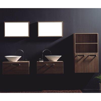 """Cosimo 26"""" Wall-Mounted Double Bathroom Vanity Set with Mirror"""