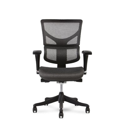 High-Back Mesh Executive Chair Headrest: Not Included, Color: Gray