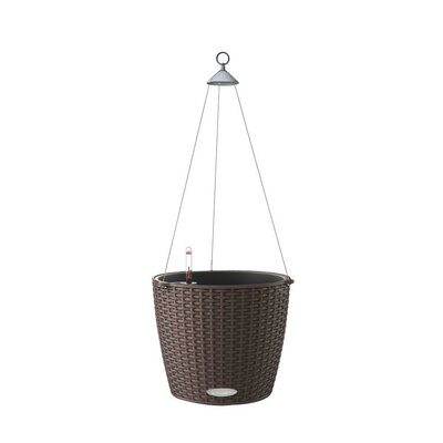 Nido Cottage Wicker Hanging Planter Color: Mocha