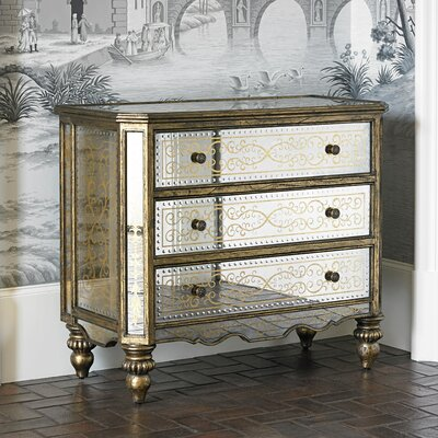 Gilded 3 Drawer Accent Chest