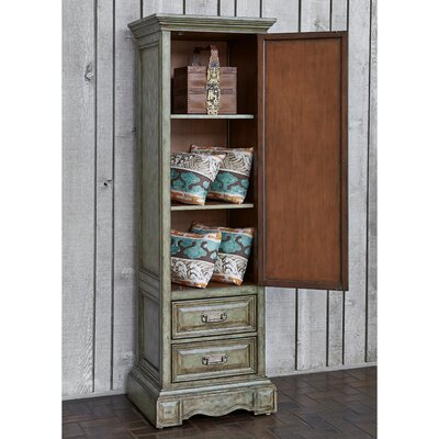Handcrafted 2 Drawer Accent Cabinet