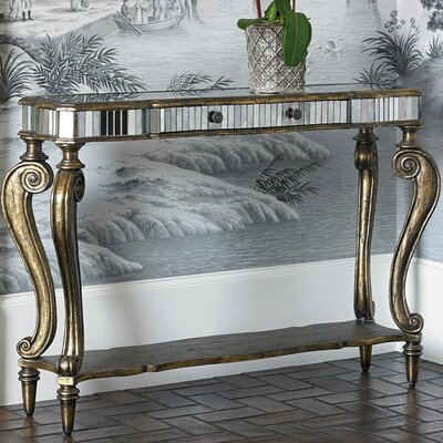 Antique Mirrored Console Table