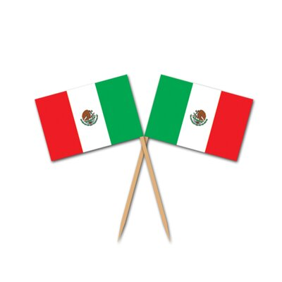 Mexican Flag Pick (Set of 2)