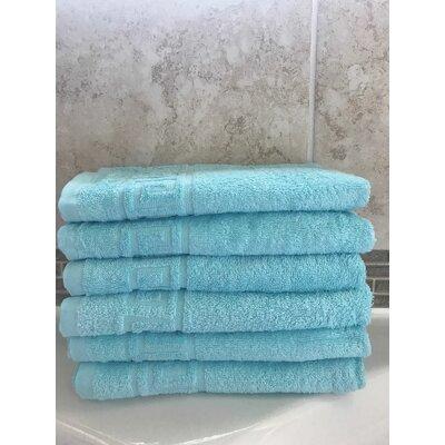 100% Cotton Bath Towel Color: Turquoise, Set Of: Set of 1