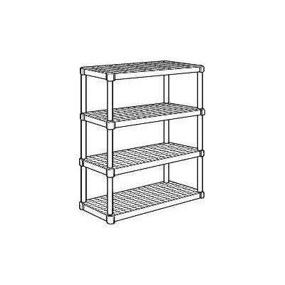 "Commercial Ventilated Storage 37.5"" H Shevling Unit"