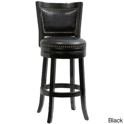 "Magdaleno 44"" Swivel Bar Stool Color: Black"