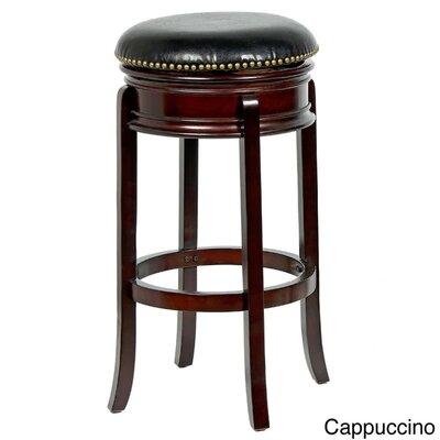 "Magdaleno 29"" Swivel Bar Stool Finish: Cappuccino"