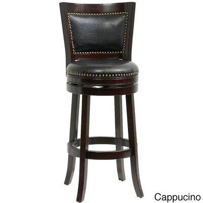 "Magdaleno 44"" Swivel Bar Stool Color: Cappuccino/Black"