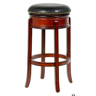 "Magdaleno 24"" Swivel Bar Stool Finish: Brown"