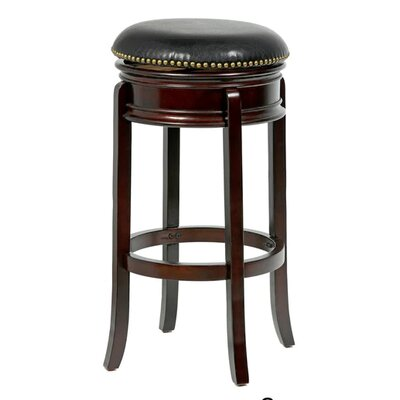 "Magdaleno 24"" Swivel Bar Stool Finish: Cappuccino"