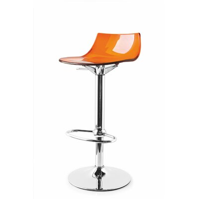Elizabeth Street Adjustable Height Swivel Bar Stool Finish: Orange
