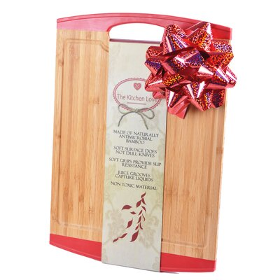 Natural Bamboo Cutting Board Color: Red