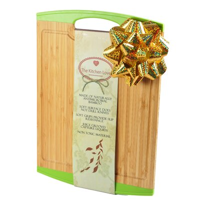 Natural Bamboo Cutting Board Color: Green