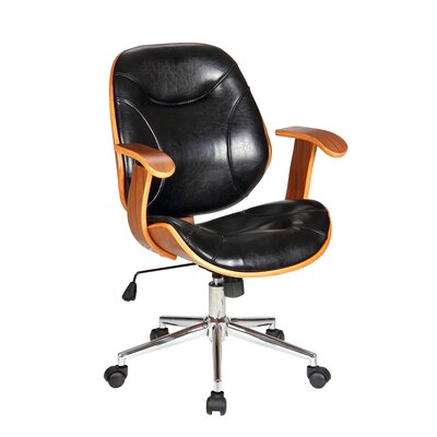 Rigdom Mid-Back Desk Chair Upholstery: Black
