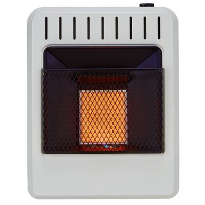 Ventless 10,000 BTU Natural Gas/Propane Infrared Wall Mounted Heater with Automatic Thermostat