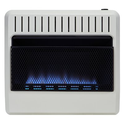 Dual Fuel Ventless 30,000 BTU Natural Gas / Propane Wall Mounted Heater with Automatic Thermostat