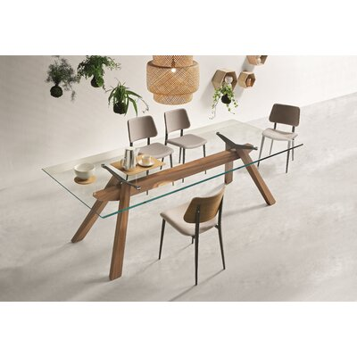 """Zeus Dining Table Size: 29.9"""" H x 41.7"""" W x 118.1"""" L"""