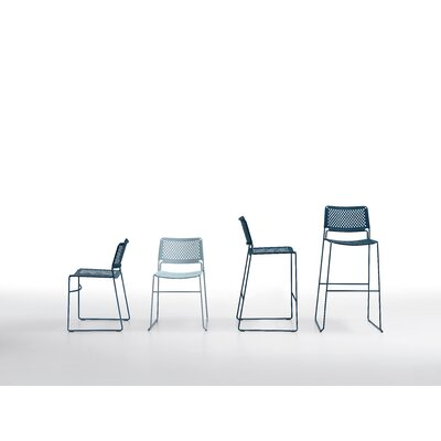 "Slim 26"" Bar Stool Color: White Steel"