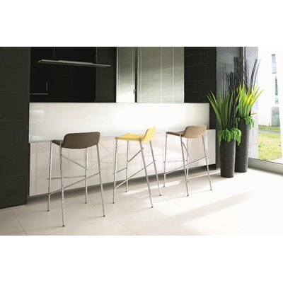 """Trampoliere 29.5"""" Bar Stool Upholstery: Yellow"""
