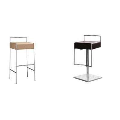 "Mark Bar Stool Seat Color: Beige, Size: 30.7"" H x 16.5"" W x 17.7"" D"