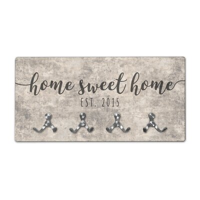 Personalized Sandstone Look Home Sweet Home Wall Mounted Coat Rack