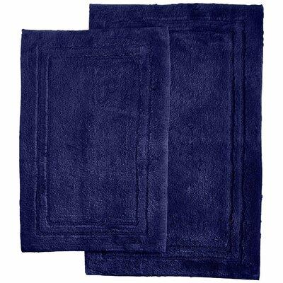 Thackeray 2 Piece Bath Rug Set Color: Navy Blue