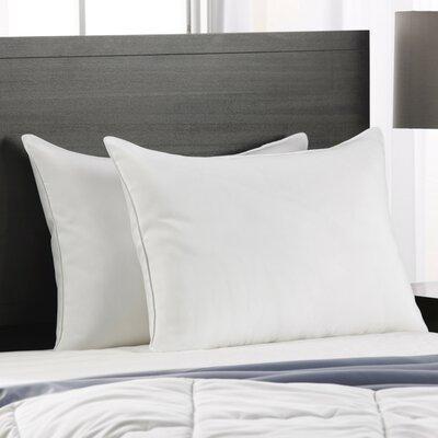 Polyester Medium Density Pillow Size: King