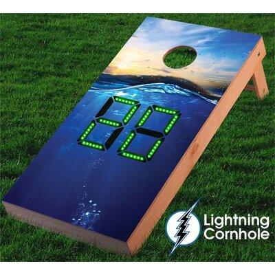 Electronic Scoring Ocean Cornhole Board Color: Gray