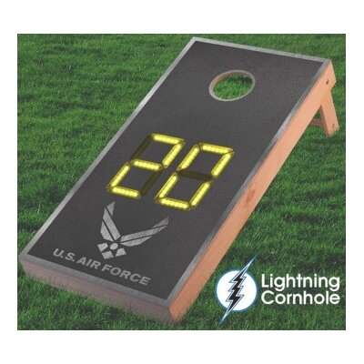 Electronic Scoring Air Force Textured Cornhole Board Color: Yellow