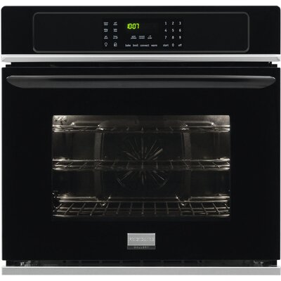 "30"" Convection Electric Single Wall Oven Color: Black"