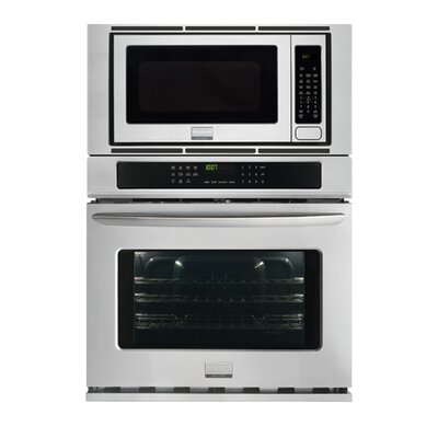 "27"" Convection Electric Single Wall Oven with Built-In Microwave Color: Silver"