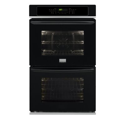 27'' Convection Electric Double Wall Oven Color: Black