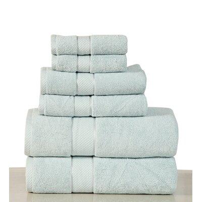 Luxurious 6 Piece Egyptian Quality Cotton Towel Set Color: Sea Foam