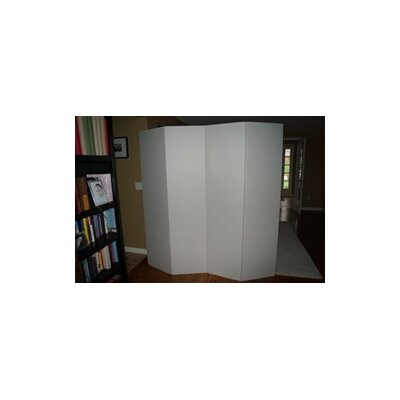 Privacy Cardboard 4 Panel Room Divider Color: White