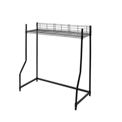 """53"""" H x 44"""" W Mini over the Bed Shelf Supreme Finish: Black"""