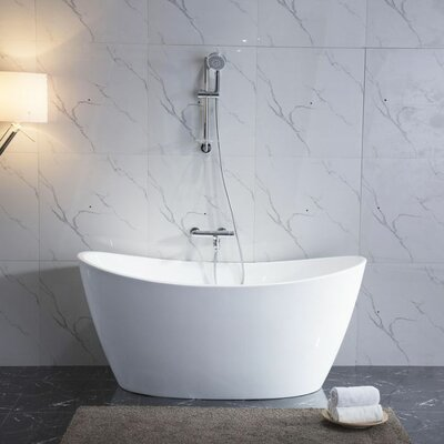 "Maya 27"" x 67"" Freestanding Soaking Bathtub"