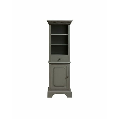 "Ruthann 22"" W x 65"" H Linen Tower Finish: French Gray"