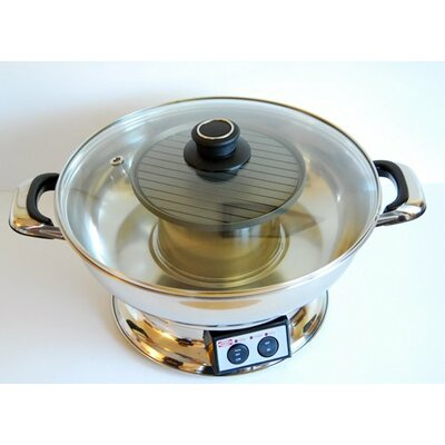 4.2-Qt. Electric Hot Pot with BBQ Grill