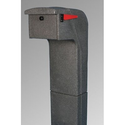 Mail Gator, Inc Post Mounted Mailbox with Rain Overhang
