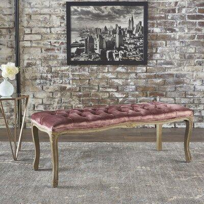 Burcham Velvet Bench Upholstery: Blush